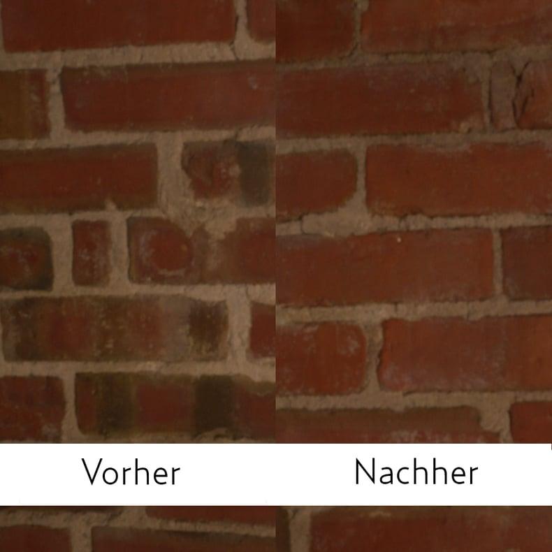 Mauer Vorher Nachher